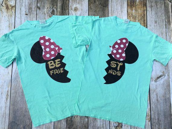 Best Friend Glitter  Mouse Shirts glitter vinyl by DashForward