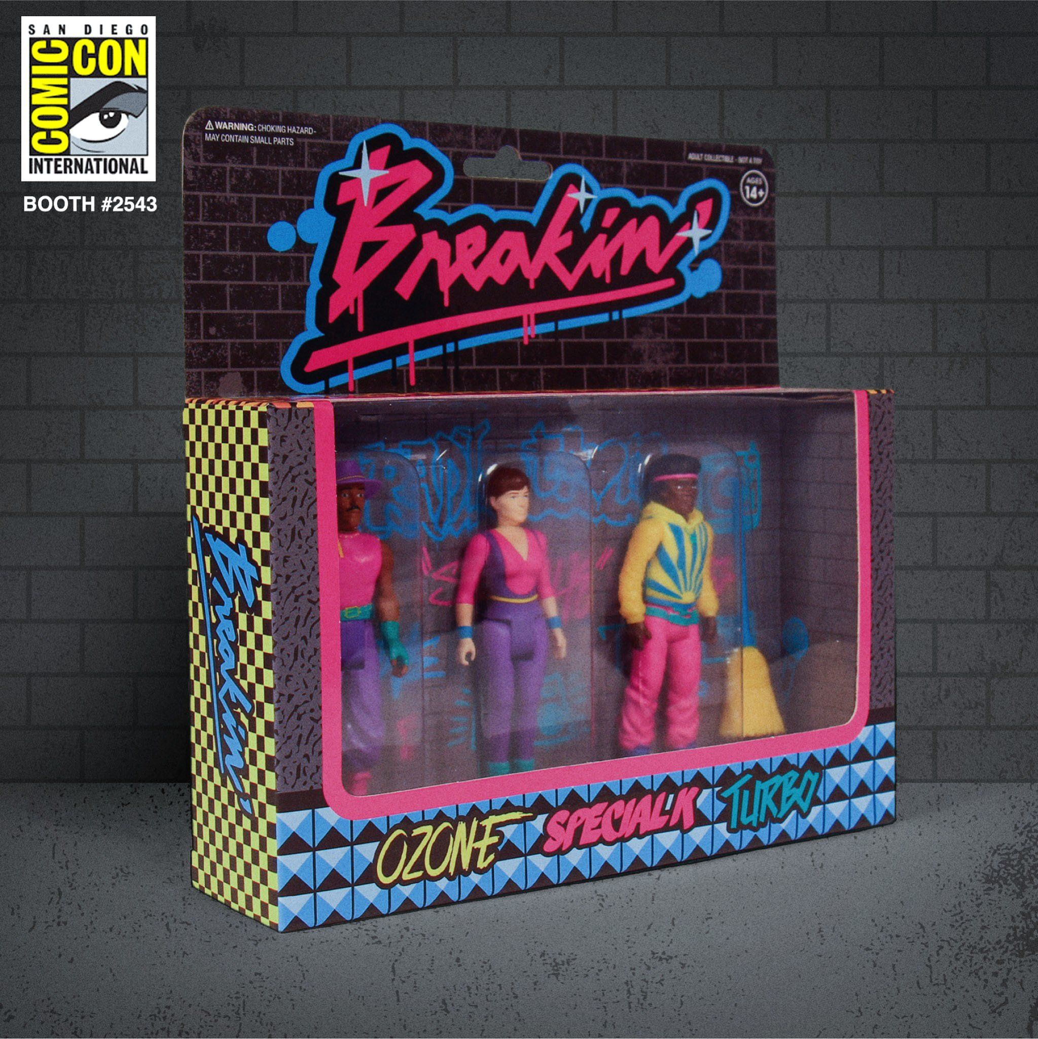 """Sdcc 2020 Halloween Booth Super7 x Breakin' ReAction Boombox Figure SDCC Set 3.75"""" Comic Con"""