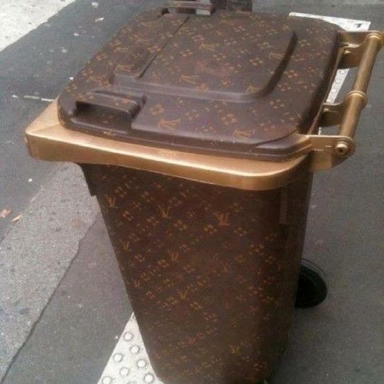 Vuitton trash bin
