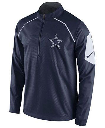 6421f9e8cdd5 Nike Men s Dallas Cowboys Alpha Fly Rush Quarter-Zip Jacket