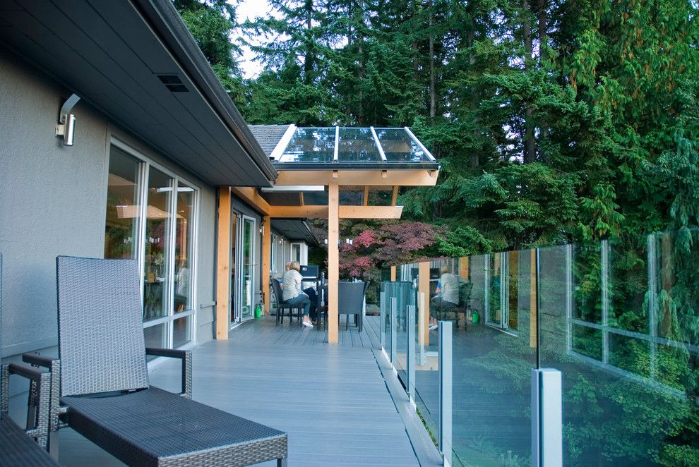 roof over deck Deck Contemporary with My Houzz | Covered ...