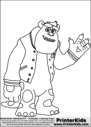 Monsters University Sully Weaving Coloring Page Coloring