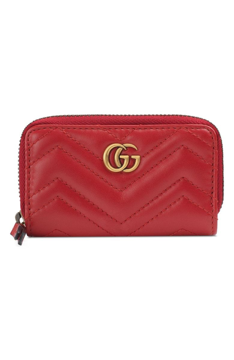 7b26f087db85 Free shipping and returns on Gucci Marmont 2.0 Matelassé Leather Key Case  Pouch at Nordstrom.