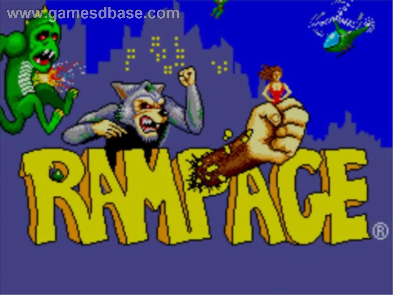 Rampage arcade game dinosaur, wolf, gorilla 90s city I