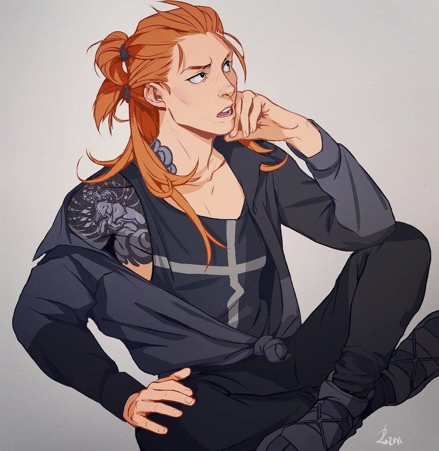 Ya Beefin By Razurichan Not So Much The Orange Hair But The Feeling Behind This Person S Character Is Character Design Male Character Design Character Art