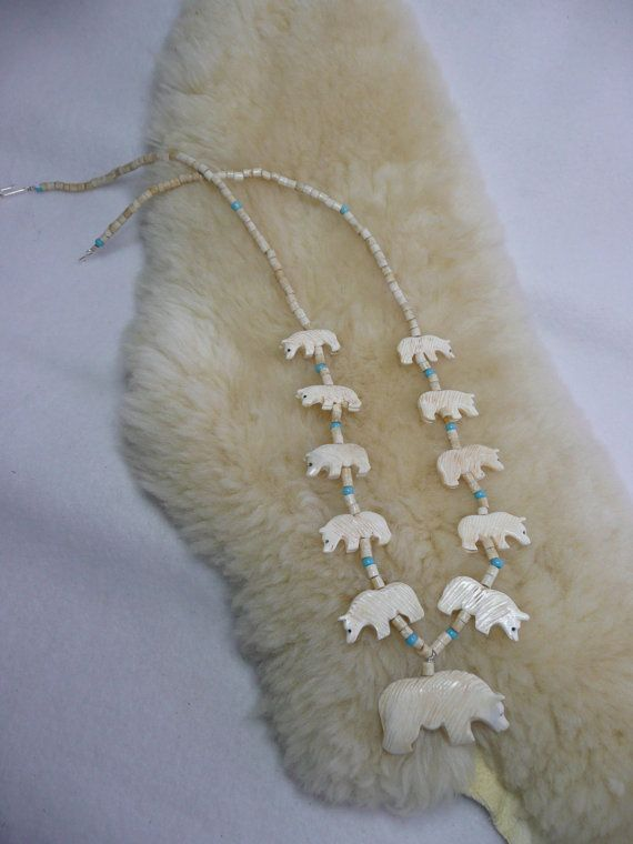 Native American Style Traditional Hand Carved Bone by HintOfNature