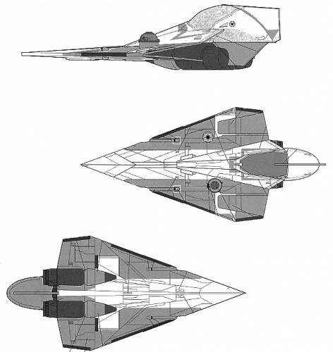 Jedi Starfighter White