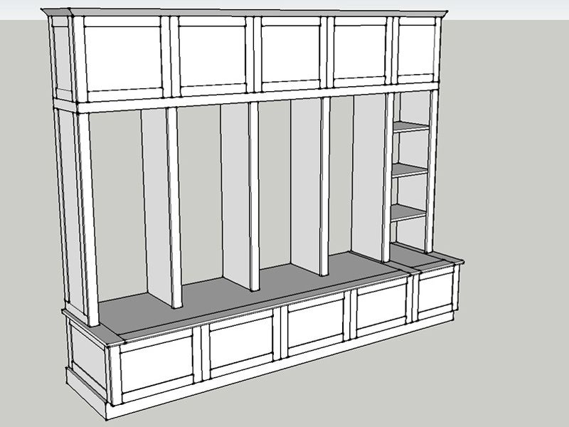 Building Plans for Mud Room Lockers – Garage Locker Plans