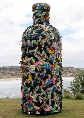John Dahlsen - Environmental art, recycled art and abstract paintings #Art #Instalations | No.