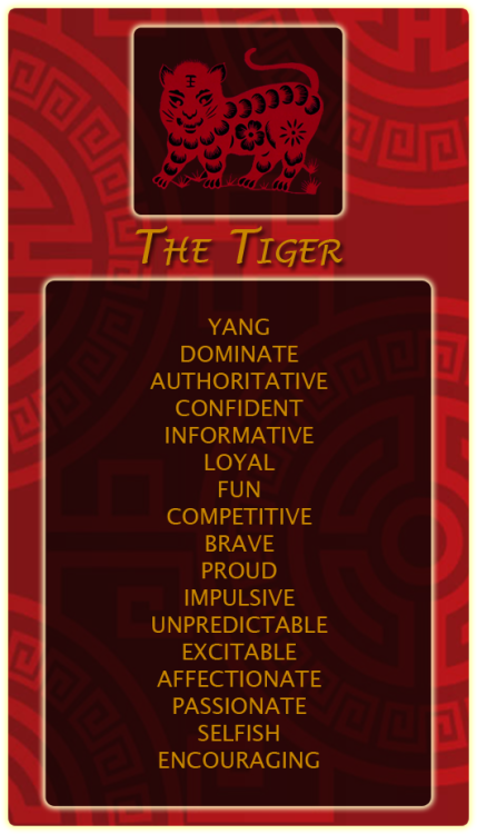 Chinese Signs Tiger Register at our site and find out