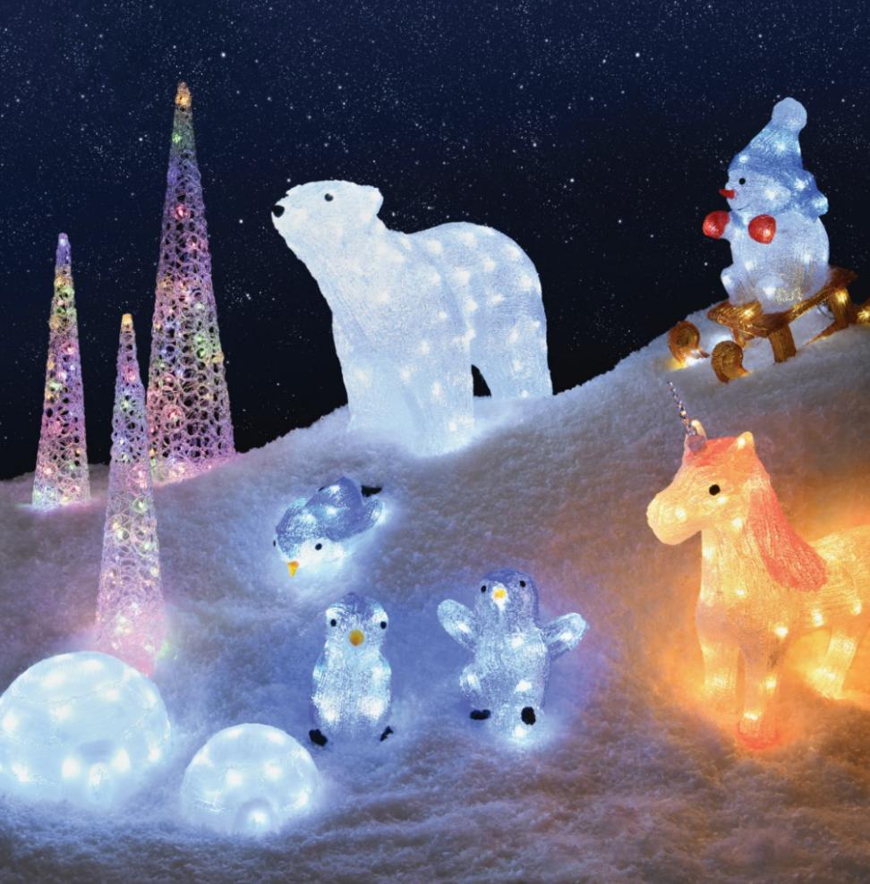 Christmas Acrylic Characters Outdoor Christmas Decorations Outdoor Christmas Christmas Themes