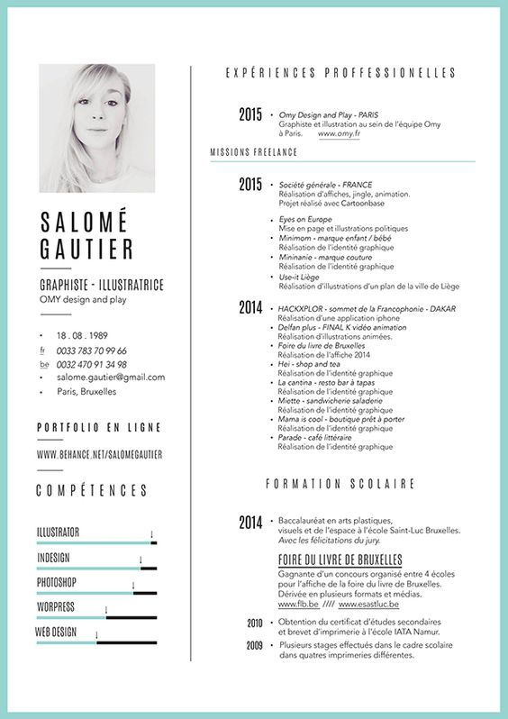 Curiculum vitae - portfolio on Behance Bewerbung Pinterest - bar resume examples