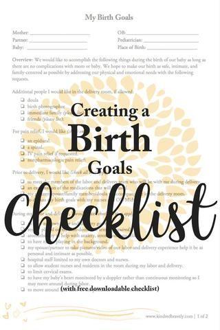 birth plan help