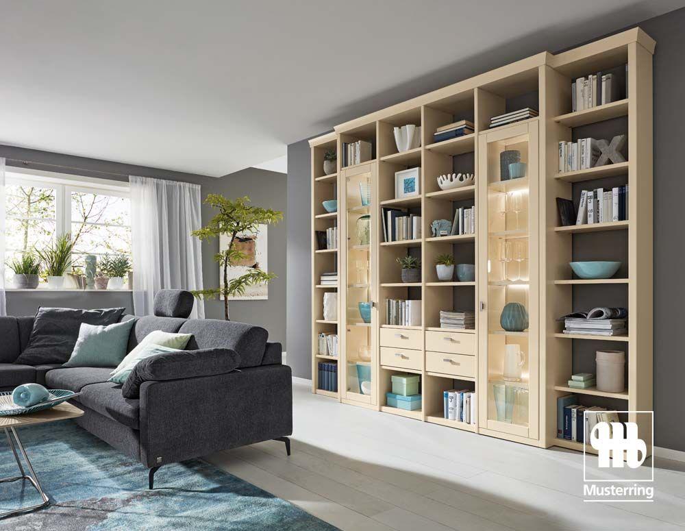 Viel Platz Für Deko, Bücher U0026 Co. In Der Musterring Korsika Regalwand. #