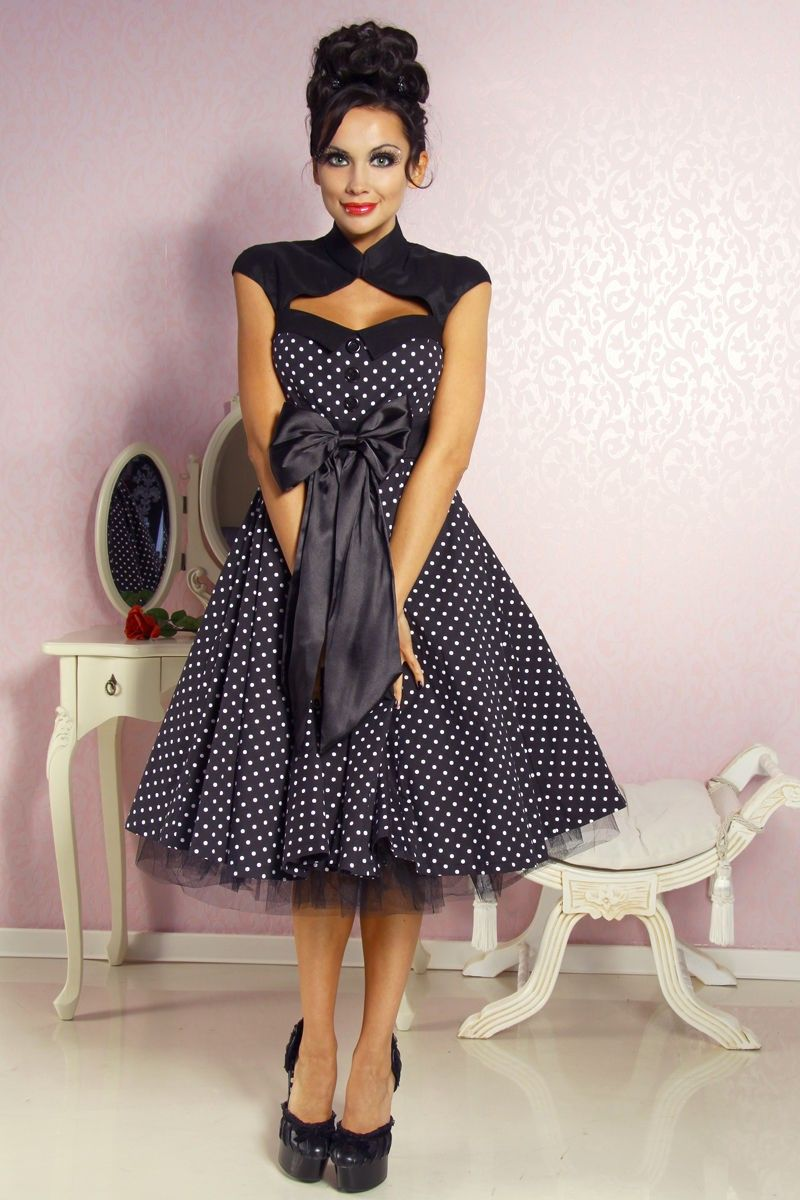 knielanges rockabilly kleid 50er petticoat kleid. Black Bedroom Furniture Sets. Home Design Ideas