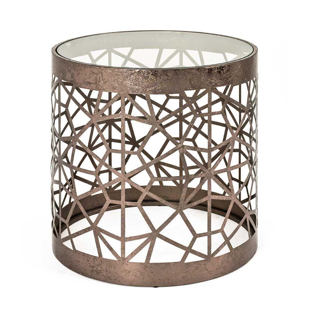 Geräumig Glasbeistelltisch Referenz Von Glas Beistelltisch In Bronzefarben Rund Jetzt Bestellen
