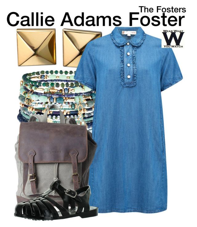 """""""The Fosters"""" by wearwhatyouwatch ❤ liked on Polyvore featuring Accessorize, Waterford, Paul & Joe Sister, television and wearwhatyouwatch"""