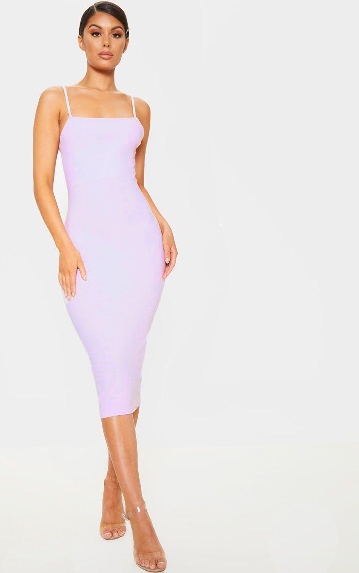Lilac Strappy Midi Dress Strappy Midi Dress Cheap Midi Dress Mid Length Dresses [ 1180 x 740 Pixel ]