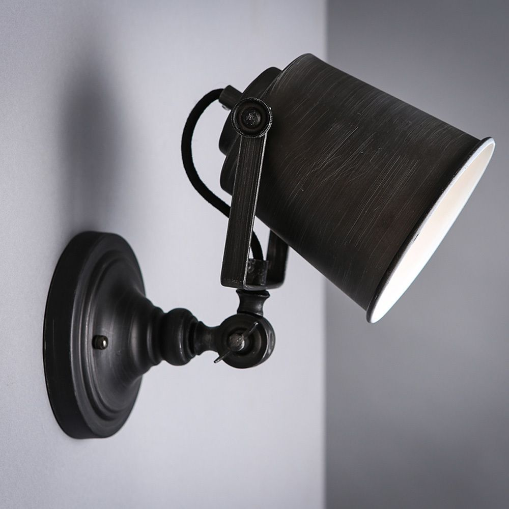 Find More Wall Lamps Information About Nordic Vintage Industrial Wall Lamp  Classic Black Art Wall Sconce