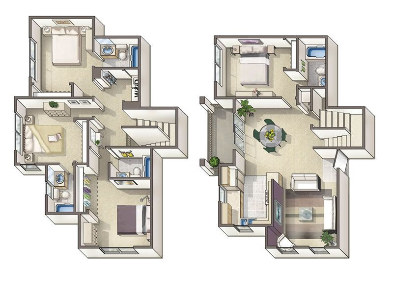 Urban Townhouse Floor Plans: 4 Bedroom Townhouse Floor Plans - Google Search