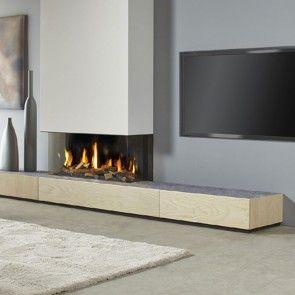 Dru Metro 100xt 3 Eco Wave 3 Sided Glass Balanced Flue Gas Fire Contemporary Fireplace Designs Fireplace Design Modern Fireplace