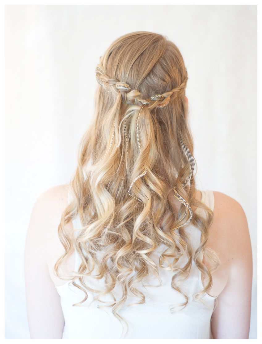 half down wedding hairstyles | half up half down wedding hairstyles