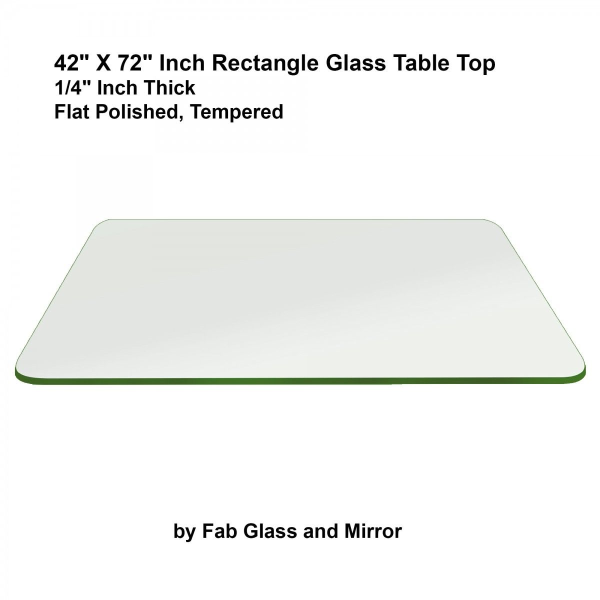 Rectangle Glass 42 X 72 Inch 1 4 Thick Flat Edge Tempered Eased Corner Glass Top Table Glass Table Tempered Glass Table Top