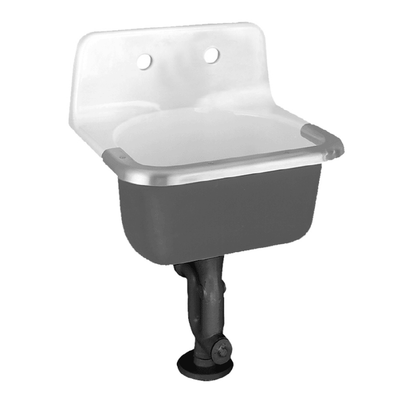 American Standard 7692.008 Lakewell Wall Mounted Cast Iron Utility ...