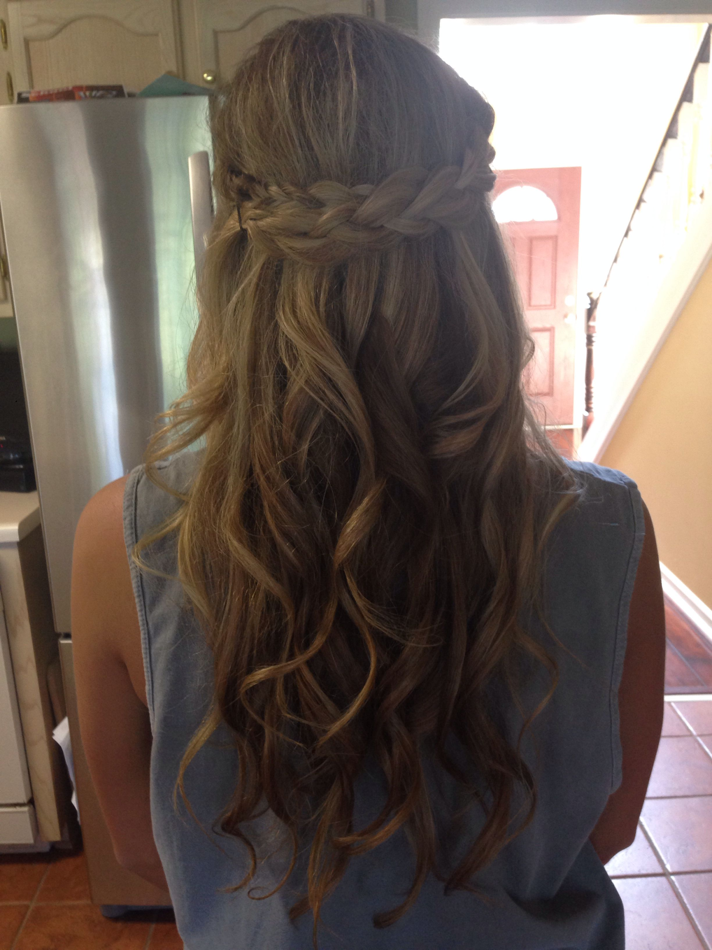 Prom hair half up half down with a braid projects to try