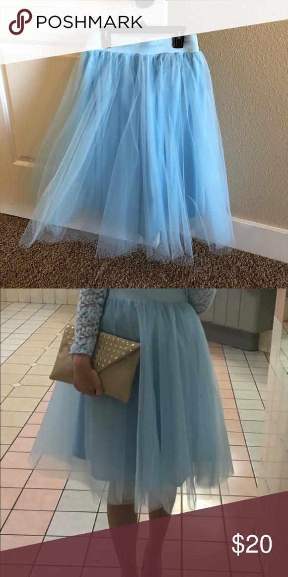 f8b935ecda Spotted while shopping on Poshmark: Blue Tulle Skirt! #poshmark #fashion  #shopping #style #Windsor #Dresses & Skirts