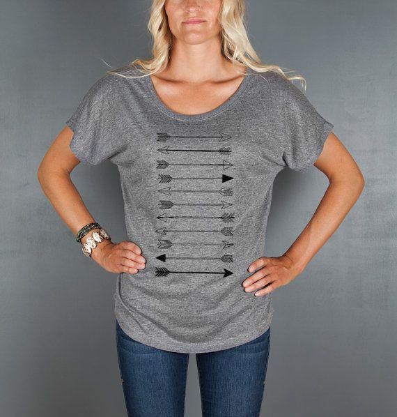 Women s ARROW Shirt Loose Fitting Sexy T Shirt by Feather4Arrow ... dd0de417df
