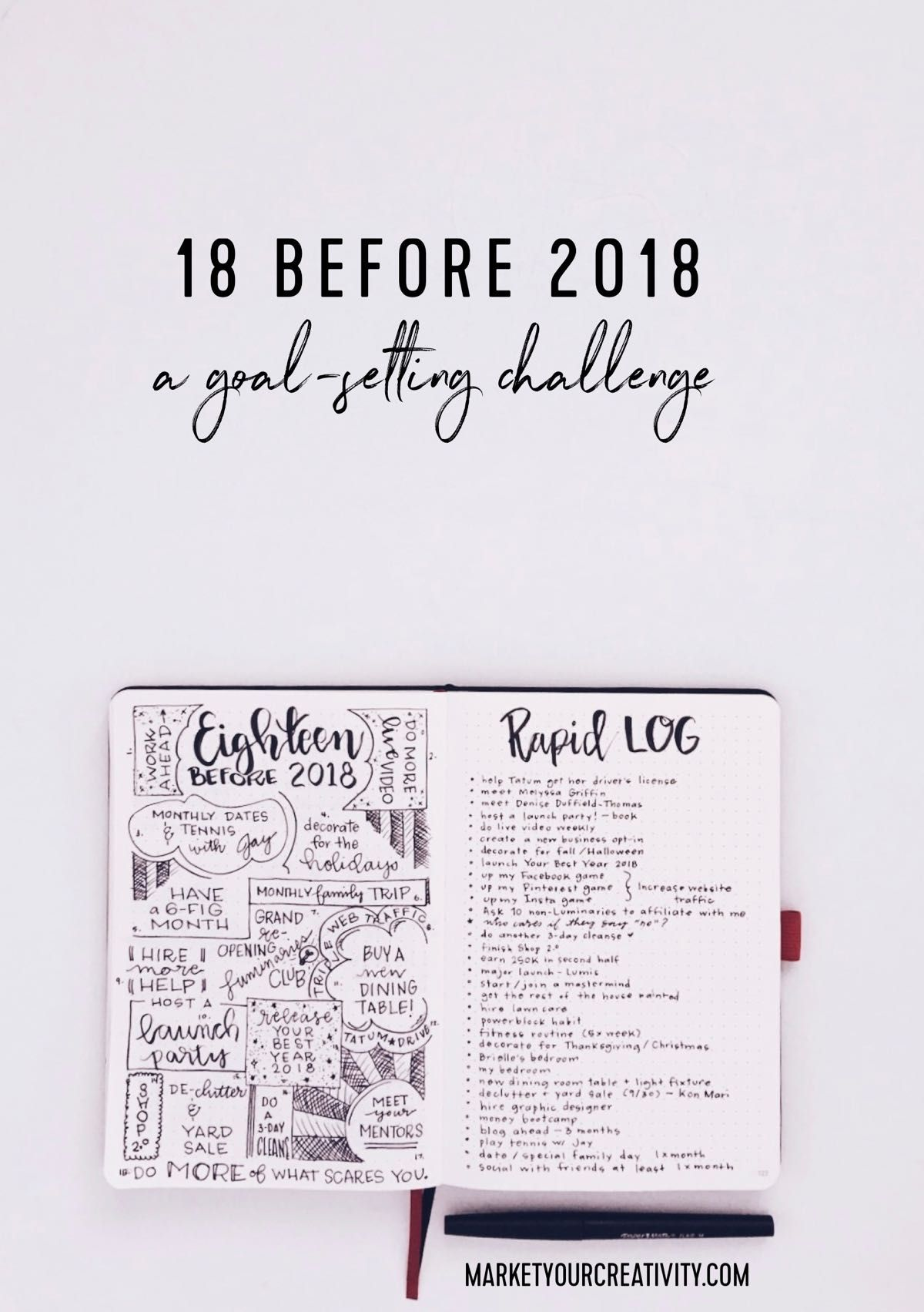 18 before 2018 A goal-setting challenge  sc 1 st  Pinterest : goal setting table - pezcame.com
