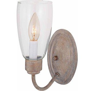 Volume Lighting V4401 Wall Sconce with 1 Light and Clear Hurricane Glass Image