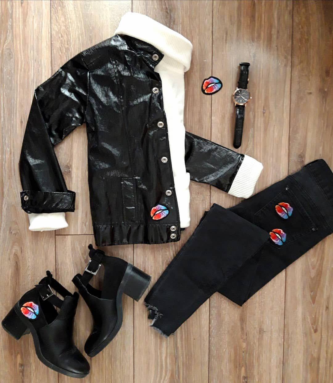 Nic Tak Nie Pozwala Na Stworzenie Indywidualnego Stylu Jak Naszywki Naszywka Aplikacja Usta Kolor Zrobtosam Paches Winter Jackets Fashion Jackets