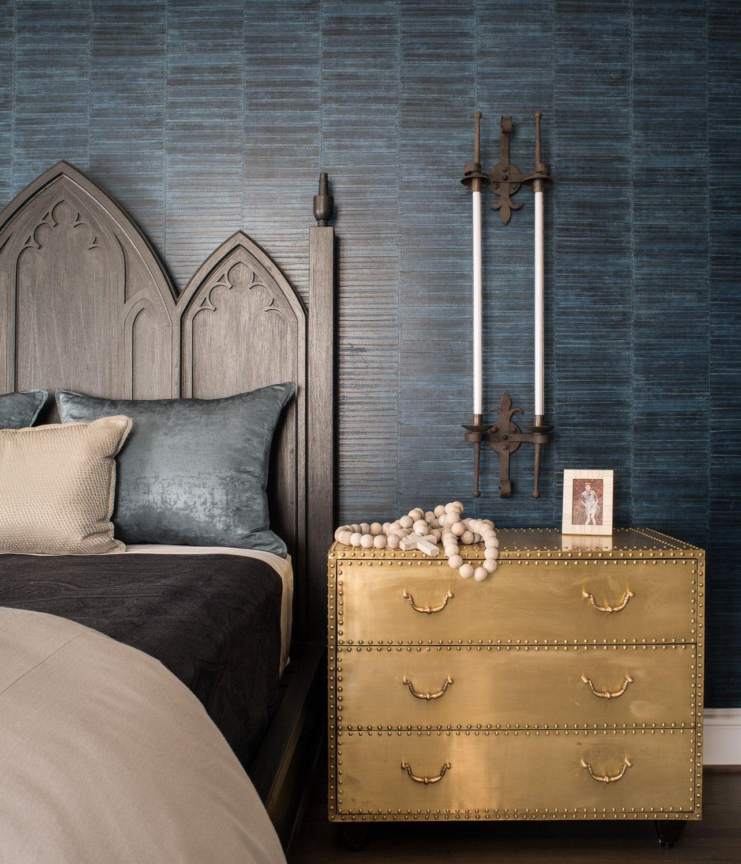 17th Street Residence Master Bedroom Blue Textured Wallpaper New Bedroom Design Living Room Wallpaper Texture Master Bedroom Wallpaper