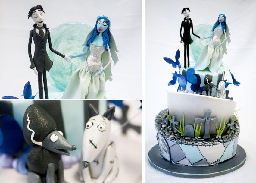 Modern Goth Wedding Cake