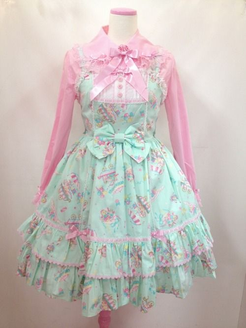 Kawaii fashion Lolita dress. Check out http://www.designyourownperfume.co.uk to create your own unique fragrance to compliment your sweet and quirky Kawaii style! A perfume as individual as you are...