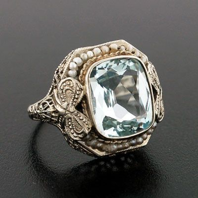 I'll always look for grandma's ring. It had a smaller bow and pearls sitting almost below the stone but this is close