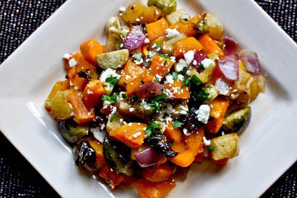 Warm Autumn Roasted Vegetable Salad Recipe Good Healthy