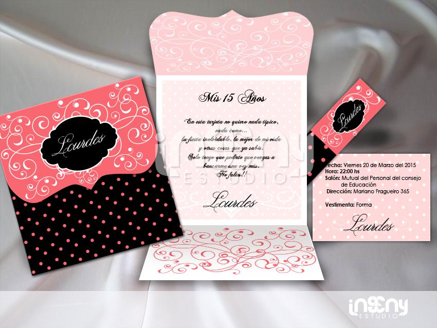 Invitaciones de 15 a os invitaciones de boda y 15 a os for Tarjetas de 15 anos vintage