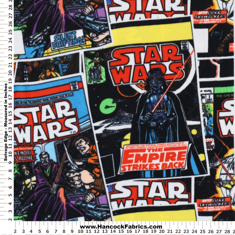 Star wars comic book covers fleece fabric star wars pinterest