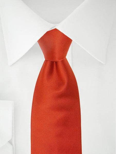 Dunkelorange Krawatte in XL