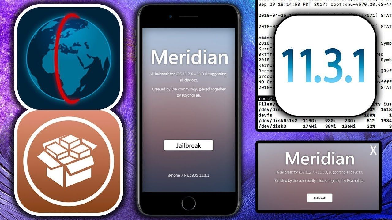 MERIDIAN] How to install JB iOS 11 4 & 11 3 1 - 11 3 & 11 2
