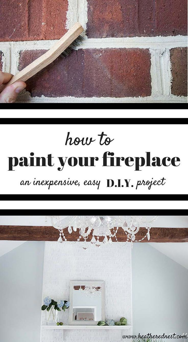 How to paint a brick fireplace Simple DIY BIG impact Home