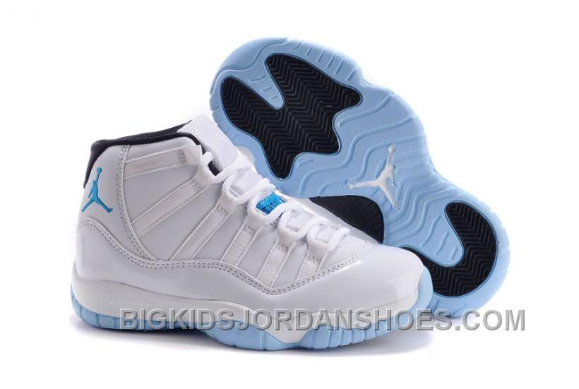 Kids Jordan 11 Legend Blue White/Legend Blue – Black Online , Big ...