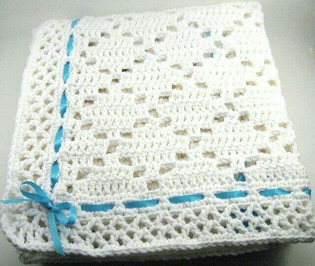 Pin de Nancy Zúñiga Nuñez en Crochet Bebe | Pinterest | Manta ...