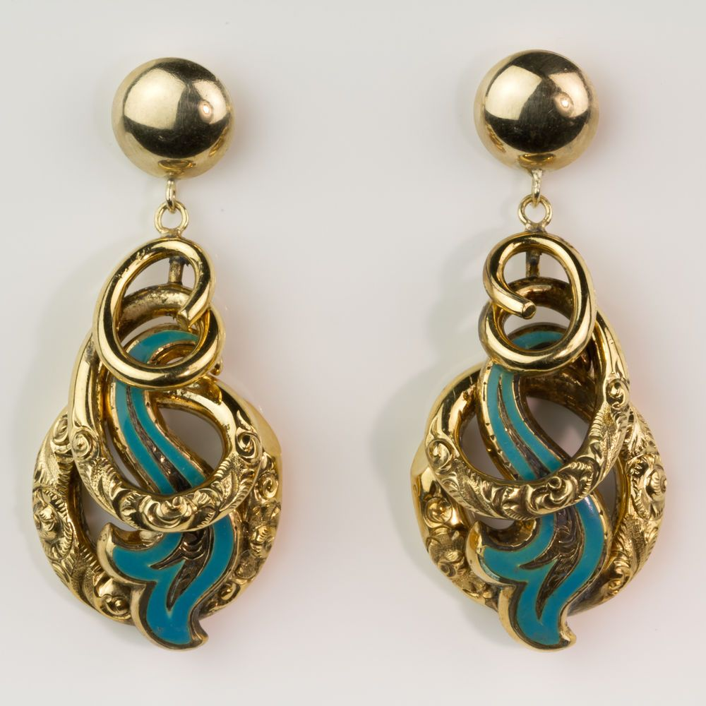 gold pearl victorian yellow earrings diamond best onyx in antique and seed