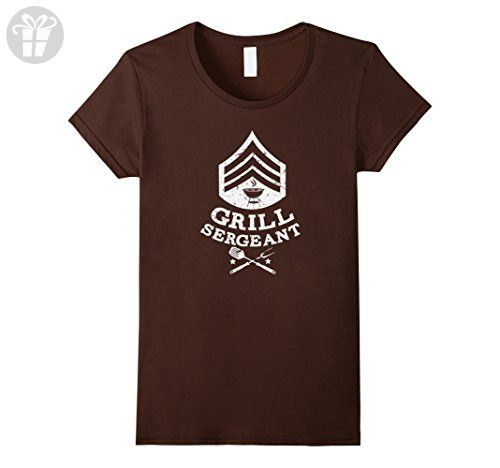 Womens Funny Grill Sergeant T-Shirt Father's Day Dad Birthday BBQ Large Brown - Birthday shirts (*Amazon Partner-Link)