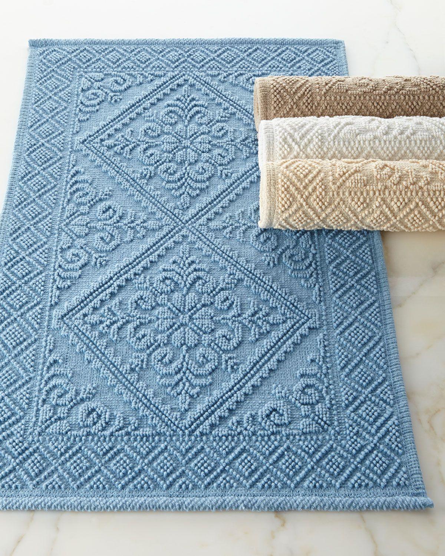 Estoril Bath Rug Banho Relaxante Azul Azul Escuro