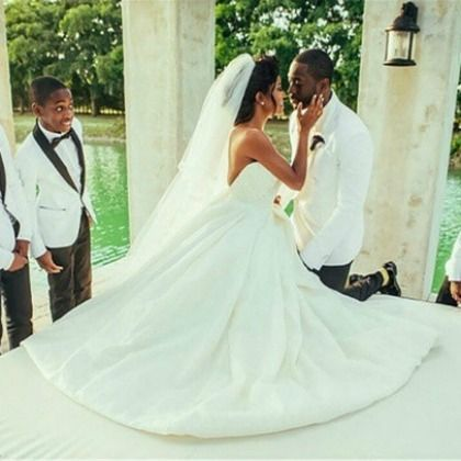 The wade union gabrielle union and dwyane wades wedding video is wedding dress check out the newly released video from gabrielle union and dwyane wades junglespirit Images